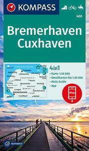 KOMPASS Wanderkarte Bremerhaven, Cuxhaven