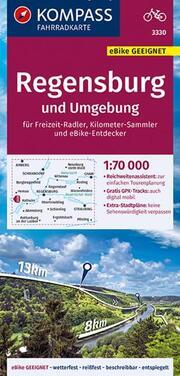 Fahrradkarte Regensburg und Umgebung 1:70.000, FK 3330