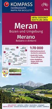 Fahrradkarte Meran, Bozen und Umgebung, Merano, Bolzano e dintorni 1:70.000, FK 3414