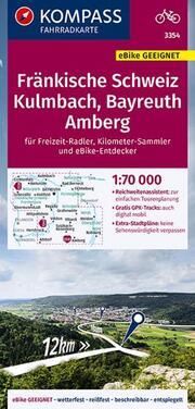 KOMPASS Fahrradkarte Fränkische Schweiz, Kulmbach, Bayreuth, Amberg 1:70.000, FK 3354