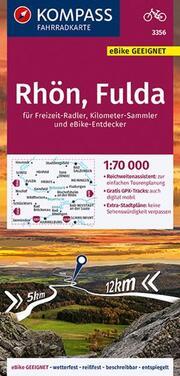 KOMPASS Fahrradkarte Rhön, Fulda 1:70.000, FK 3356