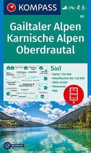 KOMPASS Wanderkarte Gailtaler Alpen, Karnische Alpen, Oberdrautal
