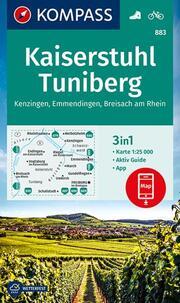 KOMPASS Wanderkarte Kaiserstuhl, Tuniberg, Kenzingen, Emmendingen, Breisach am Rhein