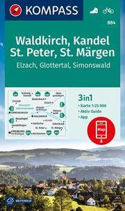 KOMPASS Wanderkarte Waldkirch, Kandel, St.Peter, St. Märgen