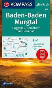 KOMPASS Wanderkarte Baden-Baden, Murgtal, Gaggenau, Gernsbach, Bad Herrenalb