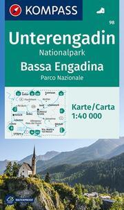 KOMPASS Wanderkarte Unterengadin, Bassa Engadina, Nationalpark, Parco Nazionale