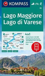 KOMPASS Wanderkarte Lago Maggiore, Lago di Varese