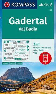 KOMPASS Wanderkarte Gadertal, Val Badia