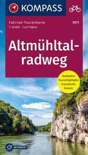 Fahrrad-Tourenkarte Altmühltalradweg