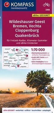 KOMPASS Fahrradkarte Wildeshauser Geest - Vechta - Cloppenburg 3366
