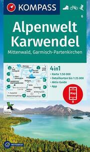 KOMPASS Wanderkarte Alpenwelt Karwendel Mittenwald, Garmisch-Partenkirchen