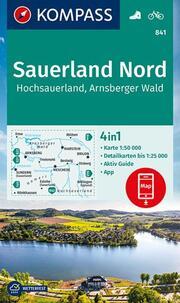 KOMPASS Wanderkarte Sauerland 1, Hochsauerland, Arnsberger Wald