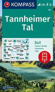 KOMPASS Wanderkarte Tannheimer Tal