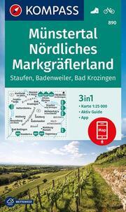 KOMPASS Wanderkarte Münstertal, Nördliches Markgräflerland, Staufen, Badenweiler, Bad Krozingen