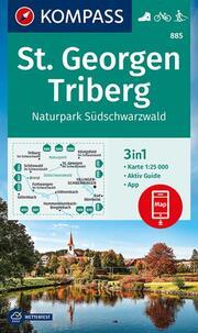 KOMPASS Wanderkarte St. Georgen, Triberg, Naturpark Südschwarzwald