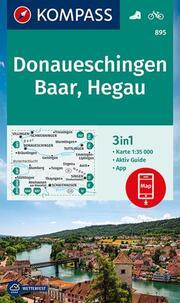 KOMPASS Wanderkarte Donaueschingen, Baar, Hegau