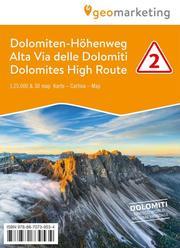 3D-Wanderkarte Dolomiten-Höhenweg 2