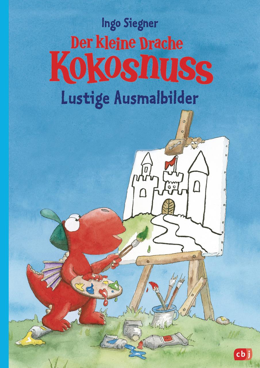 Der kleine Drache Kokosnuss - Lustige Ausmalbilder (Geheftet