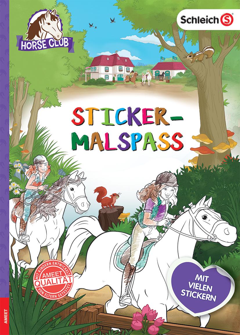 Schleich Horse Club Sticker-Malspaß (kartoniertes Buch)  Bücher